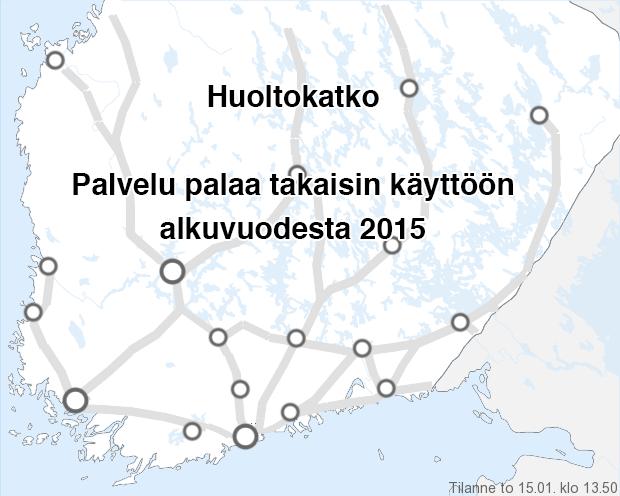 Liikennetiedot Etelä-Suomi - Foreca.fi