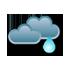 Pilvistä, vähäistä sadetta