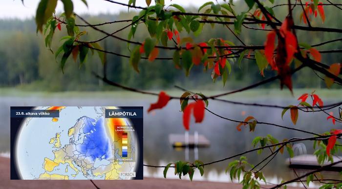 Elokuun loppu näyttää kuukausiennusteen perusteella keskimääräistä kylmemmältä.