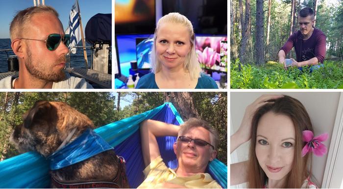 Forecan ja MTV Uutisten meteorologit Aleksi Jokela, Miina Manninen, Markus Mäntykannas, Pekka Pouta ja Mette Mannonen.