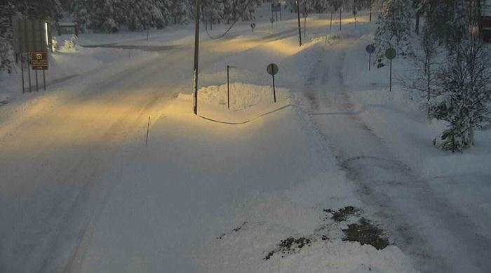Kelikamerakuva Luostolta 20.10. aamuna. Kuva: Traffic Management Finland