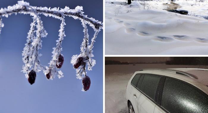 Helmikuussa koettiin sekä kireitä pakkasia ja plusasteita. Lumihangille satoi Saharan hiekkaa. Jäätävät sateet puolestaan kuorruttivat autoja ja liukastuttivat teitä.