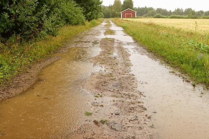Elokuun sateita Vaalassa.