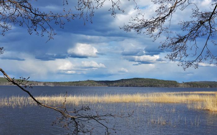 Pilviä Päijänteen yllä Jyväskylässä toukokuussa 2020.