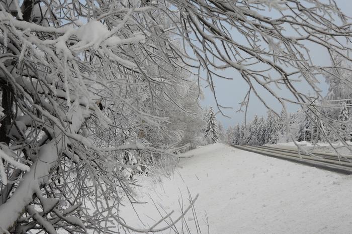 Luminen maisema Keski-Suomessa.