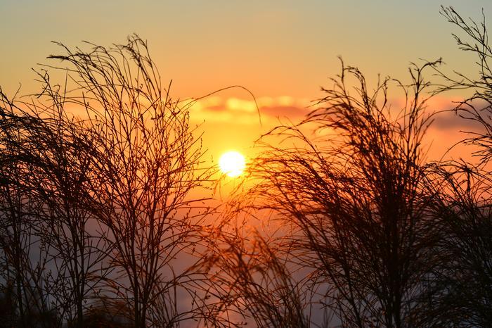 Kesäinen auringonlasku.