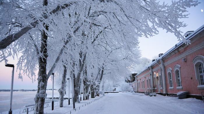 Suomenlinna pakkaspäivänä