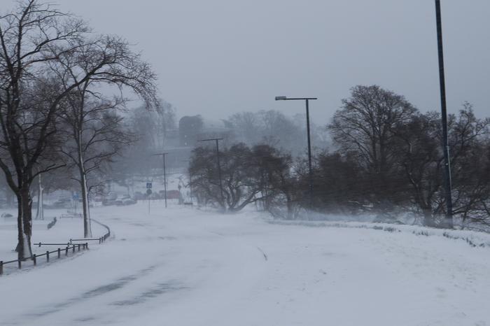 Lumimyrsky Eiranrannassa