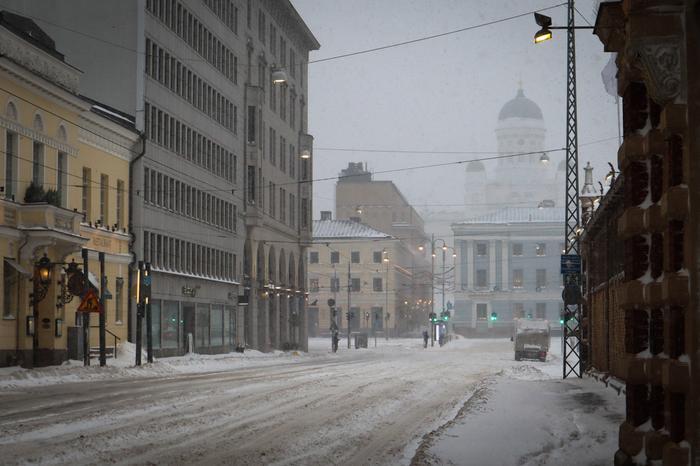 Lumimyrskyssä liikennettä on tavallista vähemmän