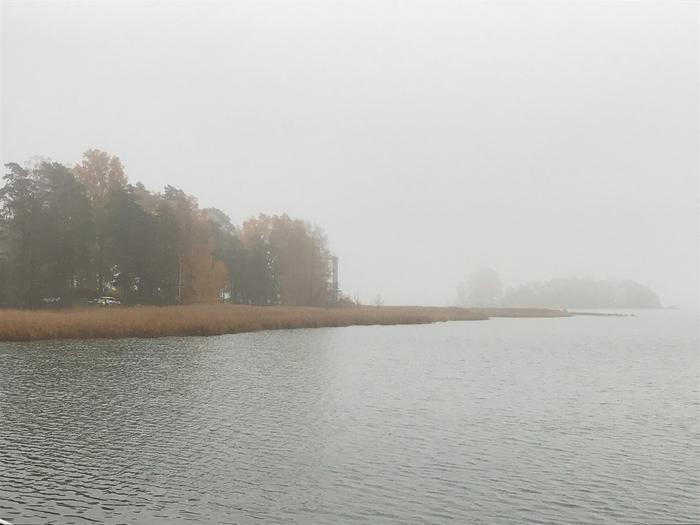Harmaata Espoon Keilaniemessä.
