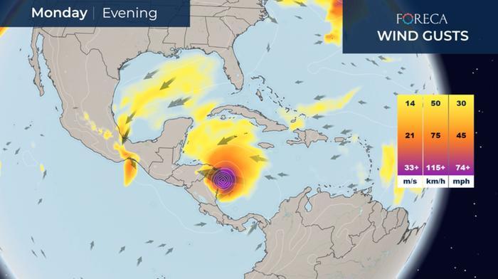 Hurrikaani Iota riepottelee alkuviikolla Keski-Amerikkaa.