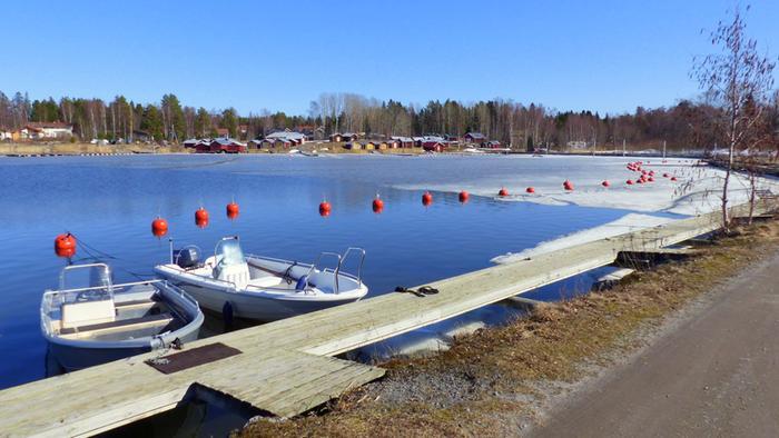 Aurinkoa ja keväistä säätä Vaasassa huhtikuussa 2021.