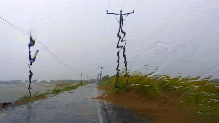 Sadetta Lohtajalla heinäkuussa 2020.