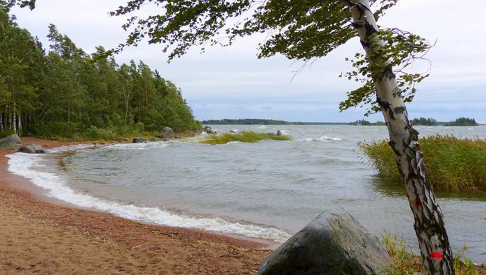 Rauli-myrsky riepotti Suomea 27. elokuuta 2016, kuva Vaasan seudulta.