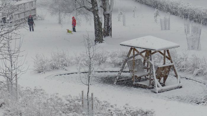 Lunta vappuaattona 2017 Vaasassa.