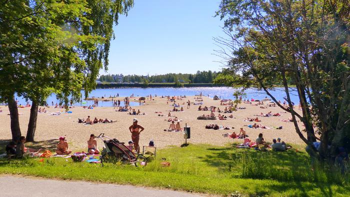 Lämpöä Vaasassa kesällä 2017.