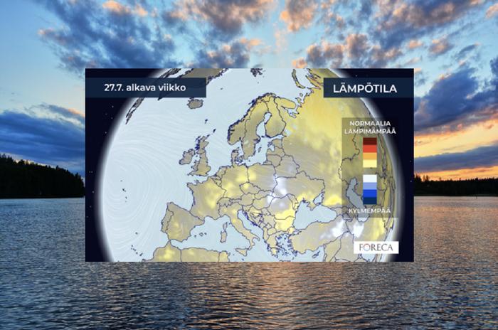 Pitkän ajan sääennuste vertaa tulevien viikkojen säätä tilastolliseen keskiarvoon.