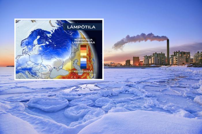 Uusi kuukausiennuste ennakoi tavanomaista kylmemmän sään jatkuvan.