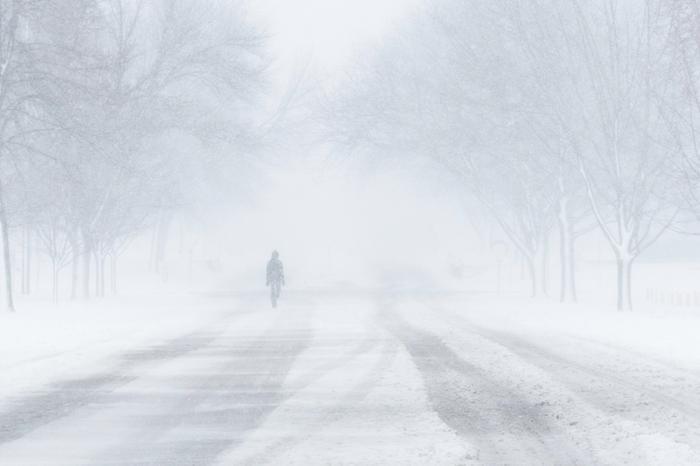 Talviset olosuhteet vallitsevat Yhydsvalloissa.