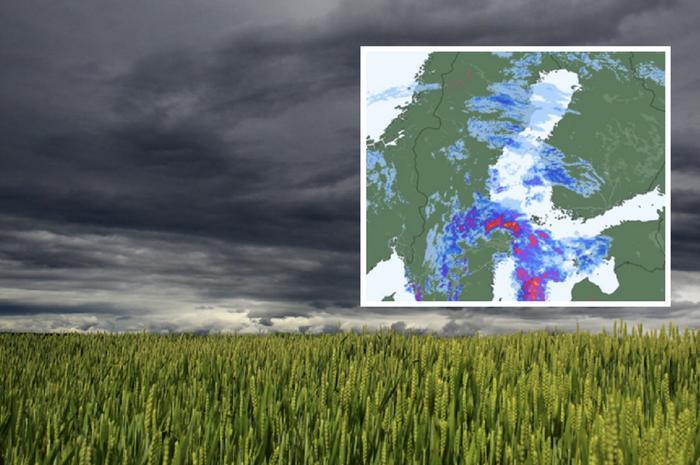 Nowcasting-menetelmän avulla sateiden liike voidaan ennustaa lähitunneille melko tarkasti.