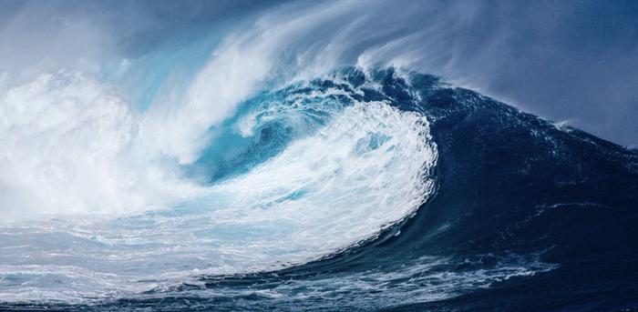 Etelämerellä aallonkorkeus voi olla myrskytilanteessa jopa yli 20 m/s.