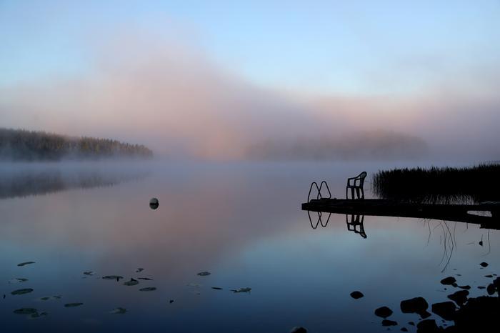 Syyskuun viileä aamu Virroilla.