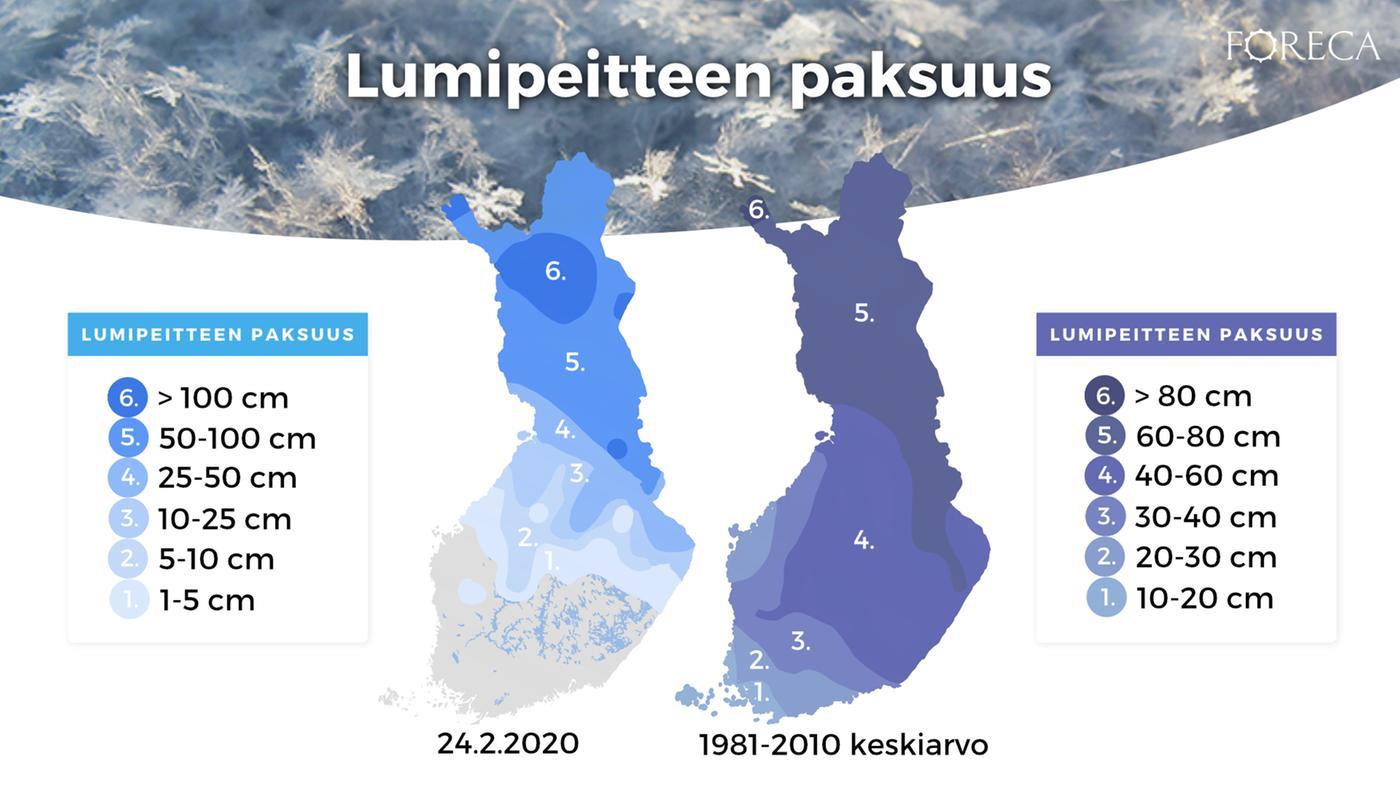 Lumitilanne Helsinki