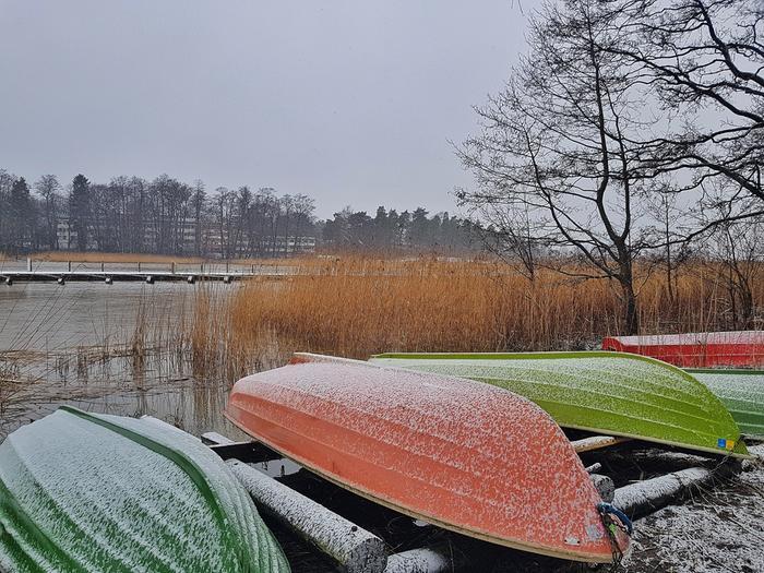 Tammikuussa 2020 satanut kevyt lumipeite Helsingissä.