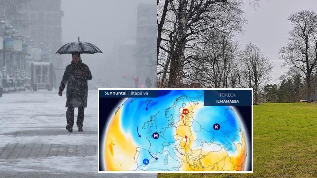 Säät sekaisin: Suomessa on pian lämpimämpää kuin Espanjassa – Italiaan 250 senttiä lunta