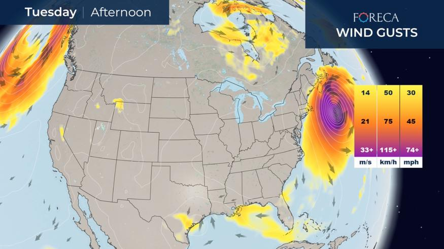 Hurrikaani Teddy lähestyy Kanadaa – voimakkaat tuulet etenevät jopa Grönlantiin asti