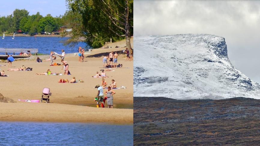 Hurja ennuste sunnuntaille: Lunta ja hellettä saman päivän aikana –