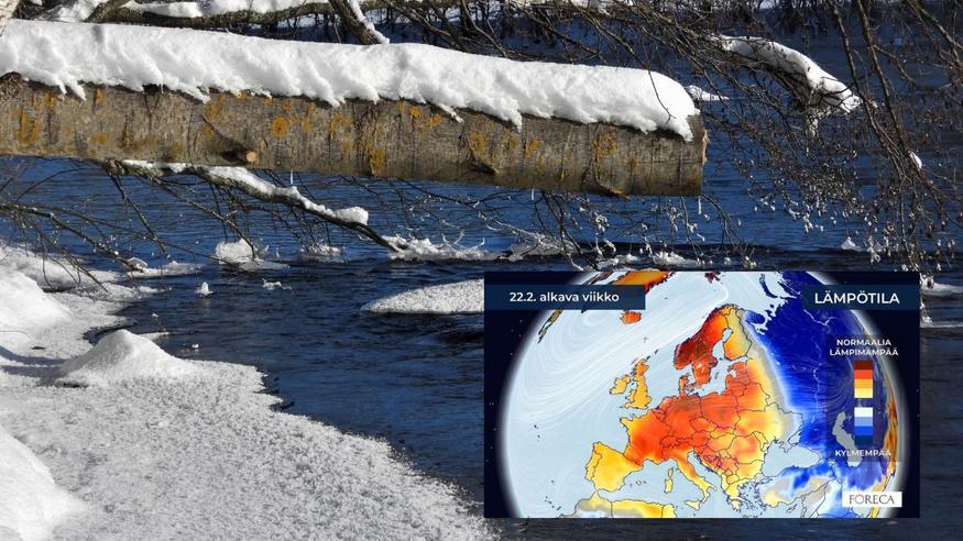 Uusi kuukausiennuste: Suomessa lähiviikkoina ajoittain jo keväisen lämmintä
