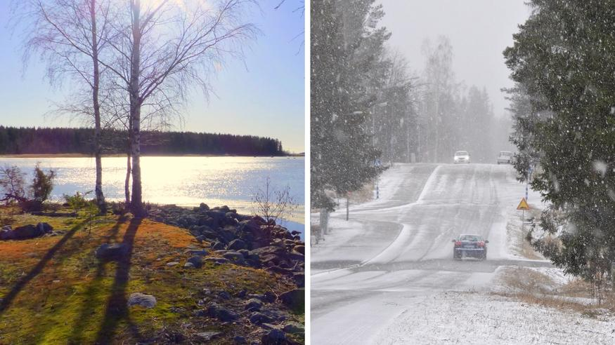 """Kevätlämpö vaihtuu pian jopa rännäksi ja lumeksi – meteorologi väläyttää viikonlopuksi """"yllärilukemia"""" ja ukkosia"""