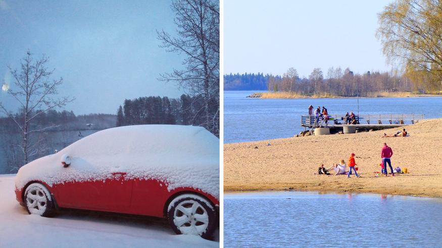 Lumipyryn jälkeen hurja käänne: Jopa +25 astetta mahdollista – katso ennuste!