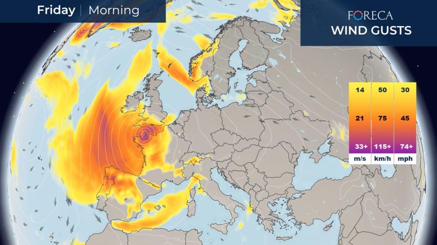 Alex-myrsky moukaroi Eurooppaa loppuviikolla – runsaita sateita, Alpeille jopa yli metri lunta