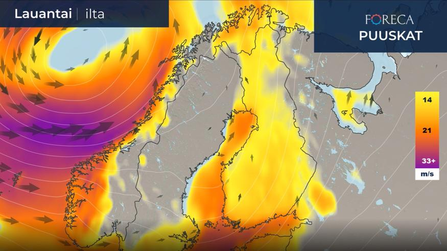 Viking Grace karilla Maarianhaminassa - myrskytuulet eivät poikkeuksellisia