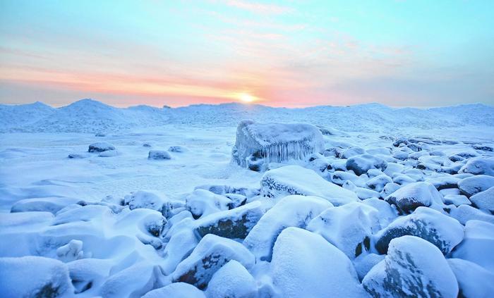 Pakkanen paukkui arktisen ilmamassan syleilyssä Porissa talvella 2017.