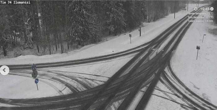 Eniten lunta kertyy todennäköisesti Pohjois-Karjalan ja Kainuun suunnalle lähellä Venäjän rajaa.