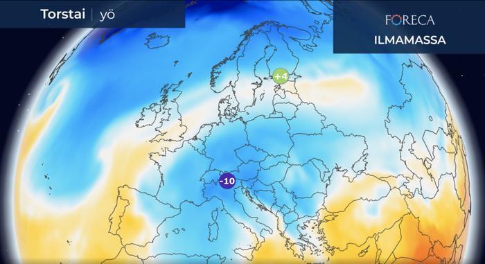 Koronaviruksen epidemia-alueella Pohjois-Italiassa lämpötila painuu ensi yön aikana paikoin -10 asteeseen.