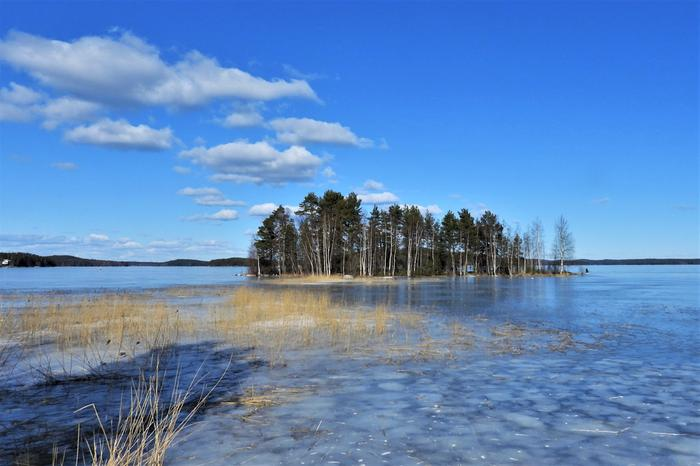 Jääpeite sulaa Jyväskylän edustalta.