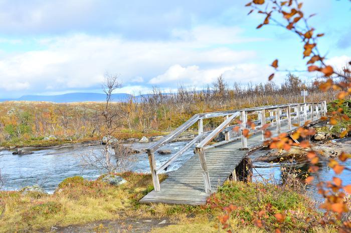 Ruskan värejä Lapissa syyskuun alkupuolella, jolloin terminen syksy oli alkanut jo osassa Lappia.