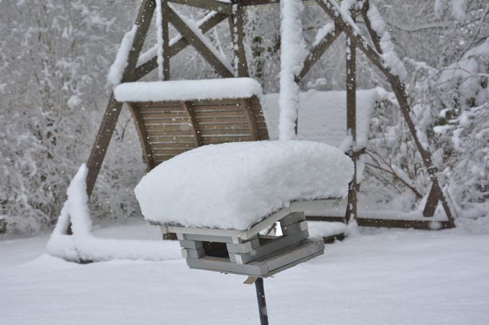 Lunta satoi huhtikuun loppupuolella Etelä-Pohjanmaalla.