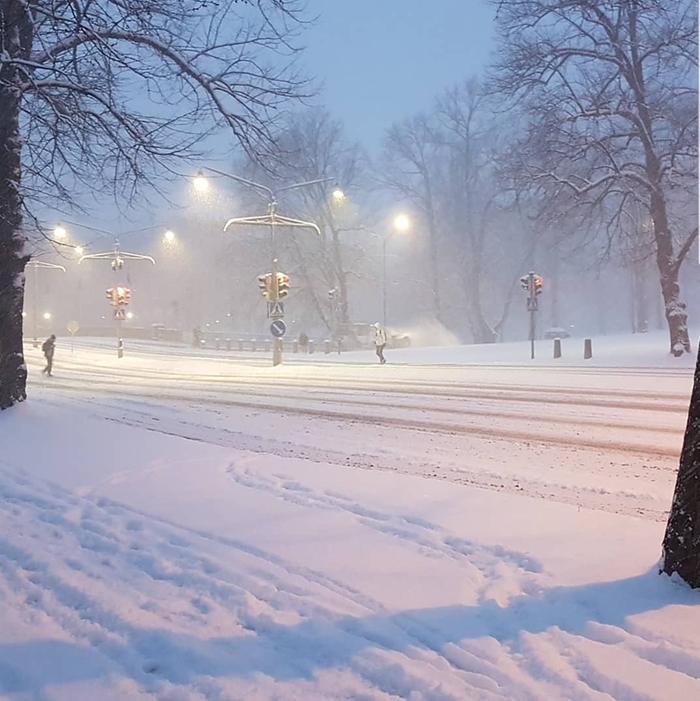 Takatalvi toi Turkuun 13 senttimetrin lumikuorrutteen maaliskuun lopussa 2020.