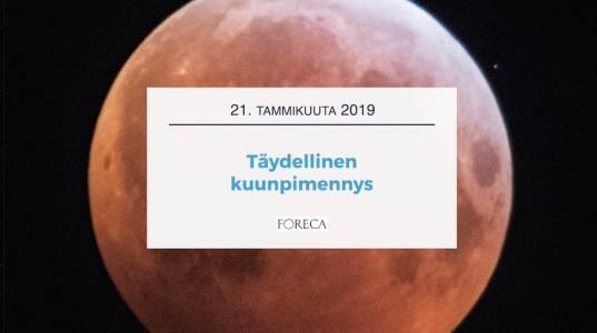 Foreca Youtubessa: Täydellinen kuunpimennys 21.1.2019